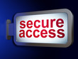 Security concept: Secure Access on billboard background