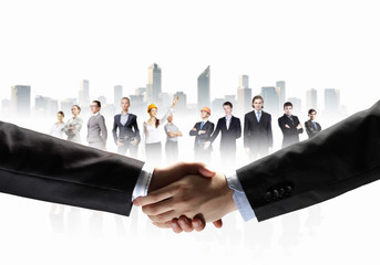 image of business handshake
