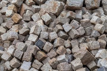 Paving stones of granite.