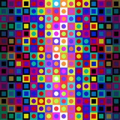 Retro Modern Op Art Pattern