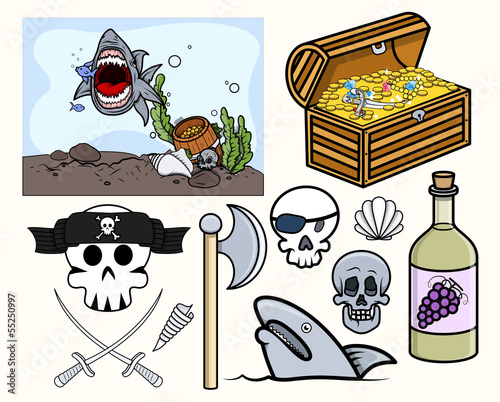 Pirate and Crew Vector Graphics