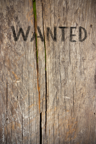 wanted on old wood