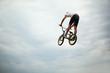 Guy jumps on bike