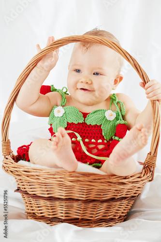 Fototapeten,kind,körbe,adorable,baby