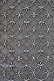 vintage iron door with circles pattern
