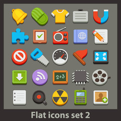 vector flat icon-set 2