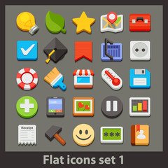 vector flat icon-set 1