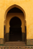 Oriental arch doors in the medina of Meknes, Morocco poster