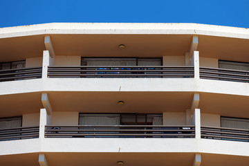 Exterior of a modern apartment block
