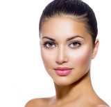 Fototapety Beautiful Face of Young Woman with Clean Fresh Skin