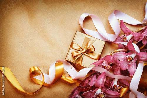 Wedding or Valentine's Day Greeting Card Design with copy space