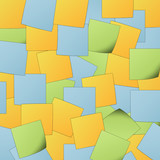 Colorful post it background