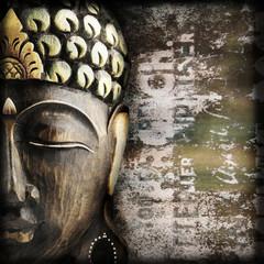 Holz Buddhamaske grunge