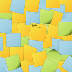 "Colorful post it background with text ""To do"""
