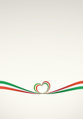 Sfondo nastro tricolore italiano 2 - Italian ribbon background 2