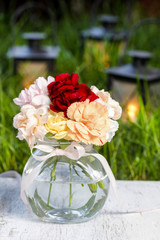Bouquet of stunning colorful carnation flowers