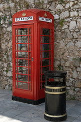 British phonebox in Gibraltar