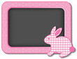 Baby Bunny Rabbit Nursery Bulletin Board, gingham, copy space