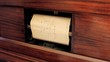 Piano vintage automatic paper roll