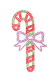 Candy stick made of rhinestones poster