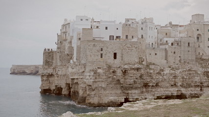 Polignano medieval city on a cliff by the sea 1