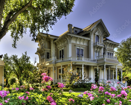 Victorian house with roses