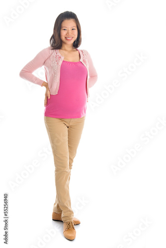 Asian pregnant woman portrait