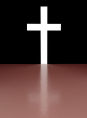 Cross with light shafts