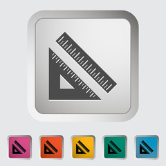 Straightedge. Single icon. Vector illustration.