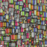 rainbow backdrop abstract fragmented
