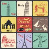 Vintage travel poster & label poster