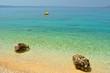 Amazing beach with two big stones near Tucepi, Croatia