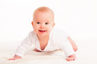 Happy cute baby  on white background