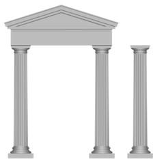 Portail et colonne en style grec