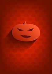 Orange Halloween background with pumpkin.