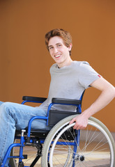 Disabled young man