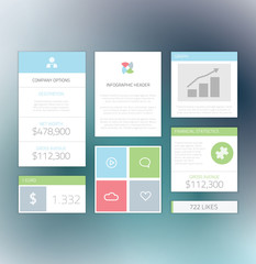 Minimal info graphic flat fresh elements vector illustration