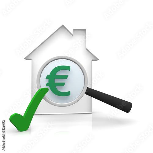 Haus, wert, euro, kosten, check,
