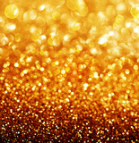 Abstract Golden Christmas and New Year background