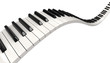 Leinwanddruck Bild - Piano keys (clipping path included)