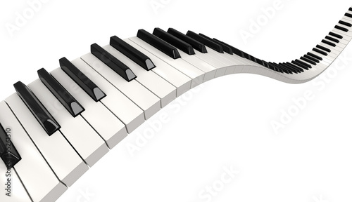 Leinwanddruck Bild Piano keys (clipping path included)