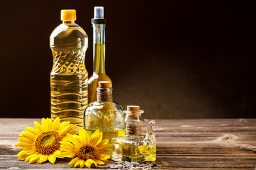 Oils in bottles