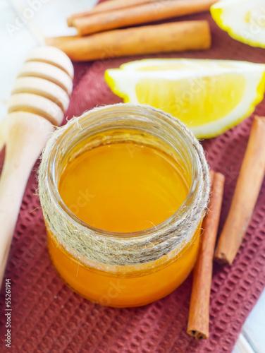 honey,cinnamon,and lemon