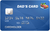 Dad's credit card