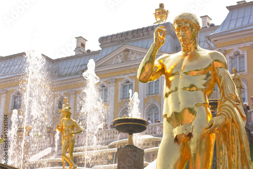 Detail of the Grand Cascade Fountain in Peterhof