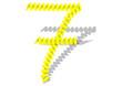 sarı renkli yay görünümlü 6