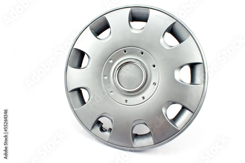 Car alloy wheel rim isolated on white