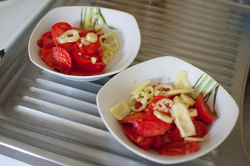 Tomato and pappers