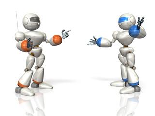 Robots to communicate.