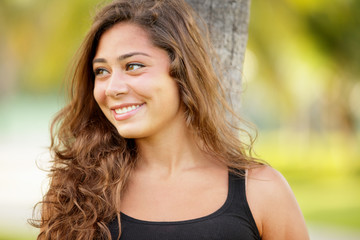 Stock image of a teenager girl smiling